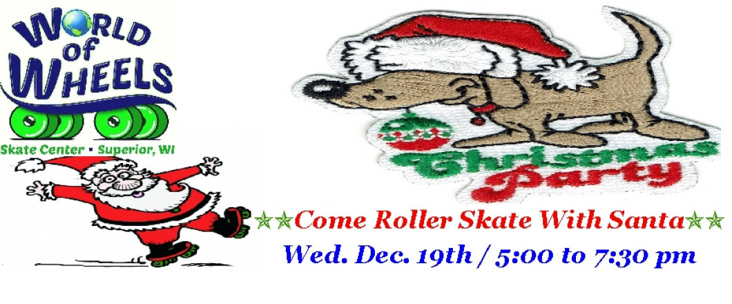 Family Christmas Party!BRING THE KIDS TOSKATE WITH SANTA!
