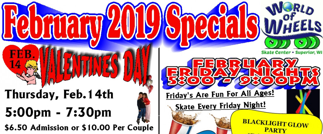 FRESH OFF THE PRESS, HERE'S A LOOK AT OUR FEBRUARY SPECIALS! CHECK IT OUT!